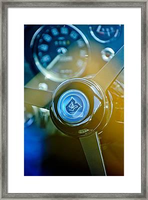 1965 Aston Martin Db5 Coupe Rhd Steering Wheel Framed Print by Jill Reger