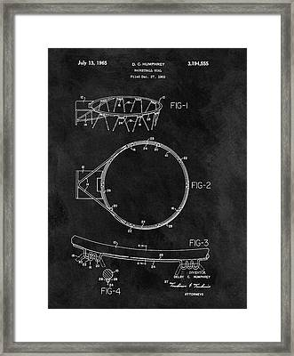 1965 Basketball Goal Patent Framed Print