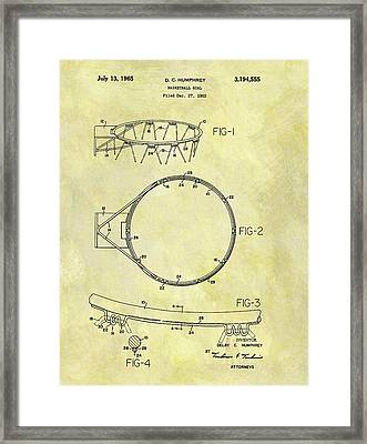 1965 Basketball Hoop Patent Framed Print