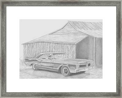1965 Buick Wildcat Classic Car Art Print Framed Print by Stephen Rooks