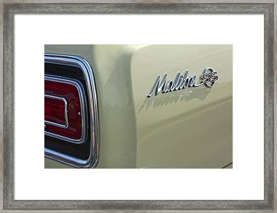 1965 Chevrolet Chevelle Malibu Ss Emblem And Taillight Framed Print by Jill Reger
