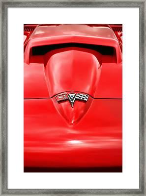 1965 Chevy Corvette Hood Scoop Framed Print