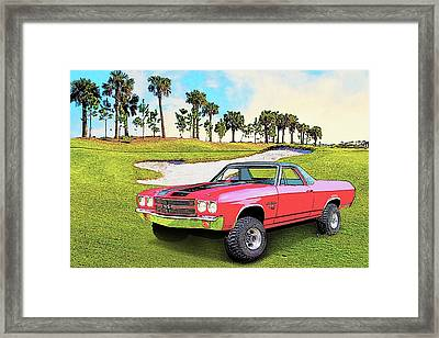 1970 Chevy El Camino 4x4 Not 2nd Generation 1964-1967 Framed Print
