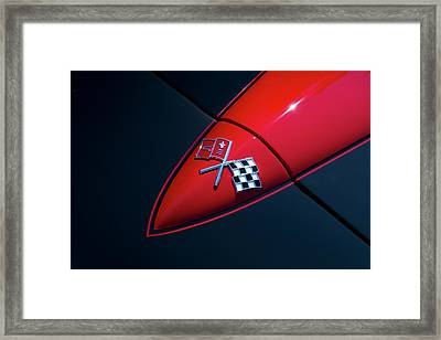 Framed Print featuring the photograph 1965 Corvette Hood by Joel Witmeyer