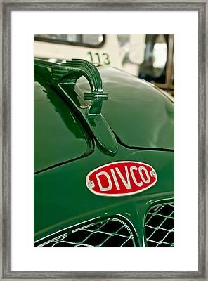 1965 Divco Milk Truck Hood Ornament Framed Print by Jill Reger
