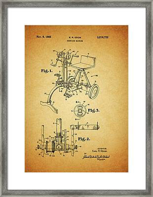 1965 Exercise Machine Patent Framed Print by Dan Sproul