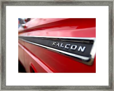 1965 Ford Falcon Name Plate Framed Print by Brian Harig