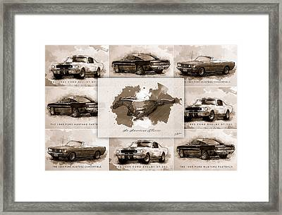 1965 Ford Mustang Collage I Framed Print