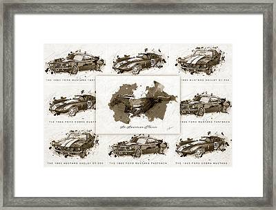 1965 Ford Mustang Collage II Framed Print