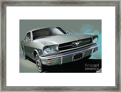 1965 Ford Mustang Coupe Framed Print by Uli Gonzalez