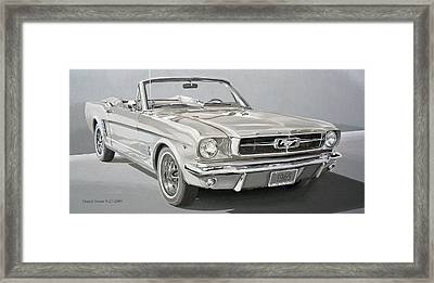 1965 Ford Mustang Framed Print by Daniel Storm