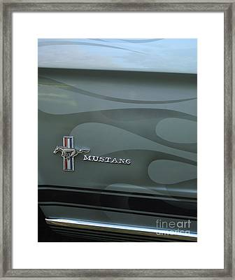 1965 Ford Mustang Ghost Flames Framed Print by Peter Piatt