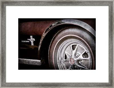 1965 Ford Mustang Wheel Emblem -0217ac Framed Print by Jill Reger