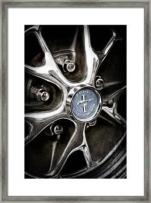 1965 Ford Mustang Wheel Emblem -0382ac Framed Print by Jill Reger