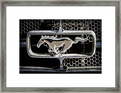 1965 Ford Shelby Mustang Grille Emblem -0589ac Framed Print by Jill Reger