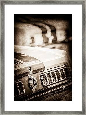 1965 Ford Shelby Mustang Gt 350 Tail Light -1037s Framed Print by Jill Reger