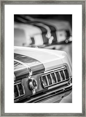 1965 Ford Shelby Mustang Gt 350 Taillight -1037bw Framed Print by Jill Reger