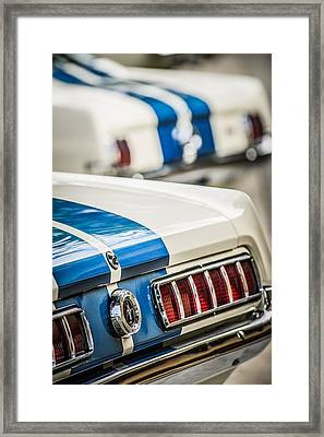 1965 Ford Shelby Mustang Gt 350 Taillight -1037c Framed Print by Jill Reger