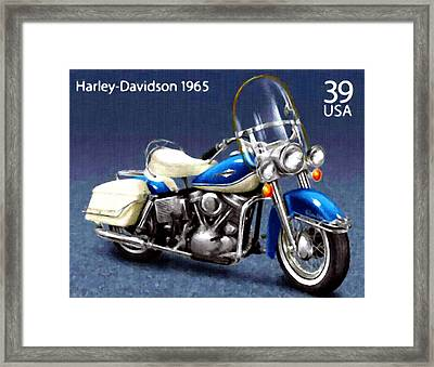 1965 Harley-davidson Electra-glide Framed Print by Lanjee Chee