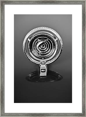 1965 Marlin Rambler Hood Ornament -368bw Framed Print by Jill Reger