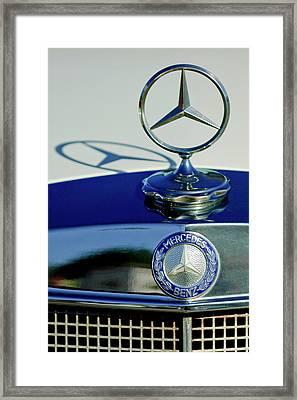 1965 Mercedes 220 Se Cabriolet Hood Ornament Framed Print