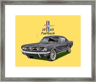 1965 Mustang Fastback Framed Print by Jack Pumphrey
