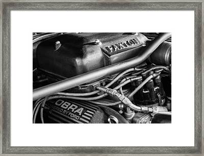 1965 Mustang Shelby Prototype Engine -0026bw Framed Print by Jill Reger