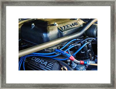 1965 Mustang Shelby Prototype Engine -0026c Framed Print by Jill Reger