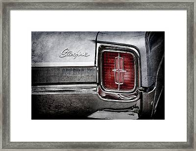 Framed Print featuring the photograph 1965 Oldsmobile Starfire Taillight Emblem -0212ac by Jill Reger