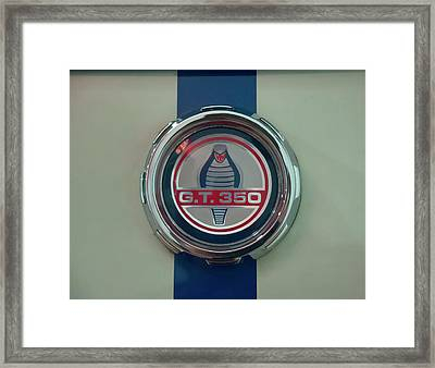 Framed Print featuring the photograph 1965 Shelby Gt 350 Filler Cap by Chris Flees