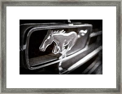 1965 Shelby Prototype Ford Mustang Grille Emblem -0017ac Framed Print by Jill Reger