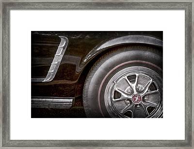 1965 Shelby Prototype Ford Mustang Wheel -0002ac Framed Print by Jill Reger