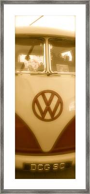 1965 Vw Camper Van Type II Split Screen Framed Print