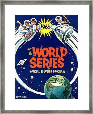 1965 World Series Twins V Dodgers Program Framed Print