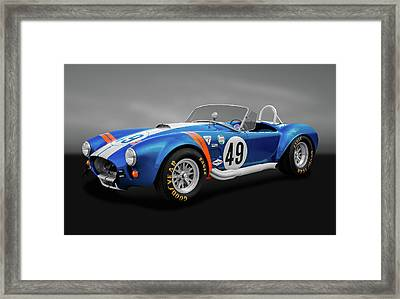 Framed Print featuring the photograph 1966 427 Shelby Cobra  -  1966shelby427cobragry170660 by Frank J Benz