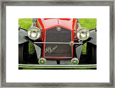1966 Alfa Romeo Quattro Route 4r Grille Framed Print by Jill Reger