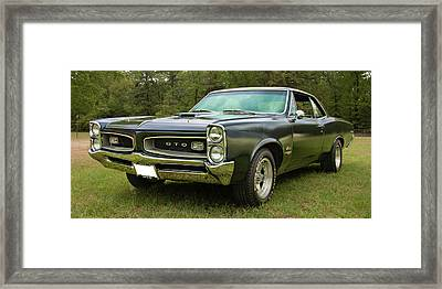 Framed Print featuring the photograph 1966 Black Gto by Daniel Adams