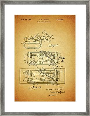 1966 Bulldozer Patent Framed Print
