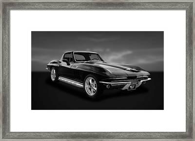1966 C2 Chevrolet Corvette  -  66vtbw33 Framed Print