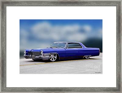 1966 Cadillac Custom Coupe Deville Framed Print