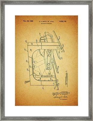 1966 Car Wash Patent Framed Print