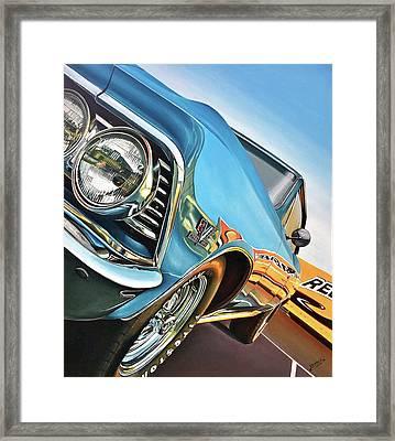1966 Chevelle Framed Print by Branden Hochstetler