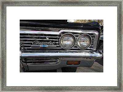 1966 Chevy Impala Chrome Framed Print