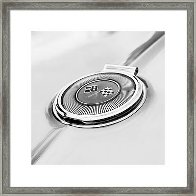 1966 Corvette Stingray Convertible Gas Cap Framed Print by Jon Woodhams