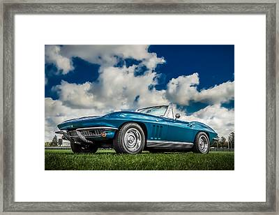 1966 Corvette Stingray  Framed Print by Ron Pate