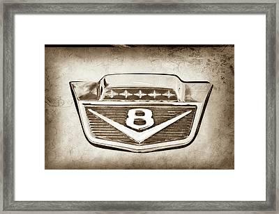 1966 Ford F100 Pickup Truck Emblem -116s Framed Print by Jill Reger