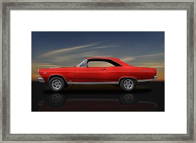 1966 Ford Fairlane 500 - 390 Gta - 2 Framed Print by Frank J Benz