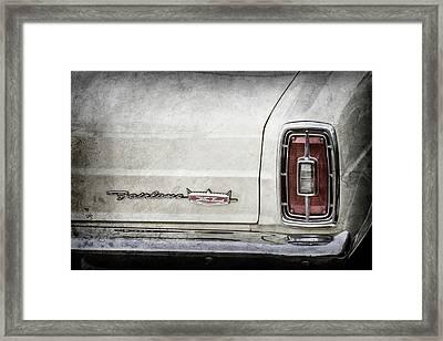1966 Ford Fairlane Xl Taillight Emblem -0425ac Framed Print by Jill Reger