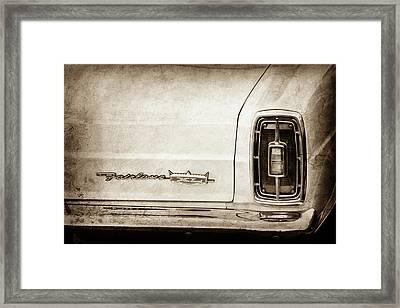 1966 Ford Fairlane Xl Taillight Emblem -0425s Framed Print by Jill Reger