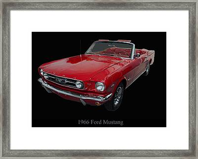 1966 Ford Mustang Convertible Framed Print